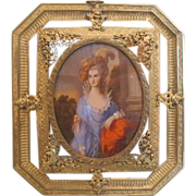 Antique English Miniature portrait of Lady Graham , dated at the 19th century