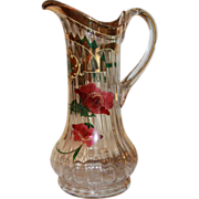 Art Nouveau  glass water jug,turn of the 20th century