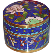 Flower and leave Chinese Cloisonne box, early 20th century