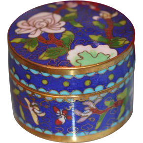Chinese Cloisonne flower box, early 20th century