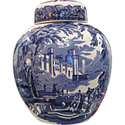 Mason's Vista Blue & White vase with cover, 20th century