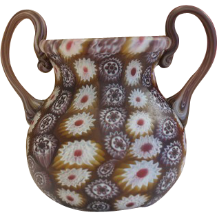 Murano Mille Fiori vase with Murrine work, about 1920