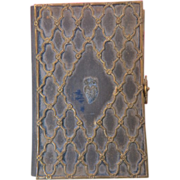 Antique Italian prayer book  including three antique Holy Cards, dated at the 19th century
