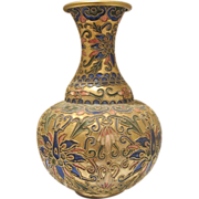 Vintage  Cloissone vase, early 20th century