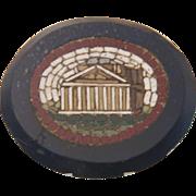 Rare Grand Tour double sided Roman Micro Mosaic plaque, 19th century