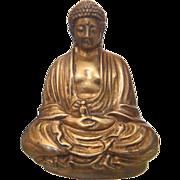 Antique Gilt Bronze Sitting Buddha Figure , ca. 1900