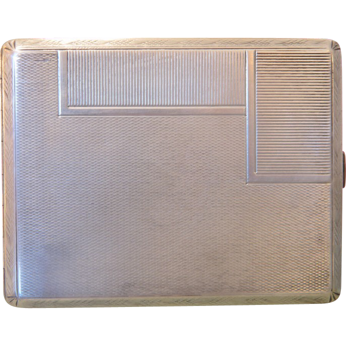 Antique silver cigarette case, 19th century