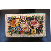 Antique Micro Mosaic Paperweight depicting flowers, 19th century