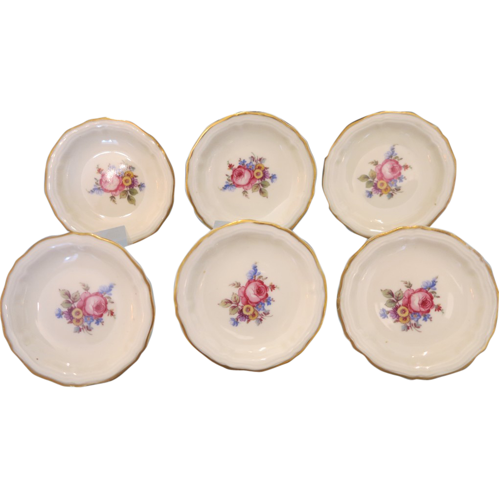 Vintage  set of six Rosenthal saucers , ca. 1930