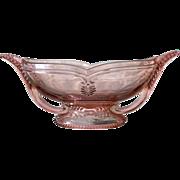 Art Deco pink Depression glass bowl, ca.1930