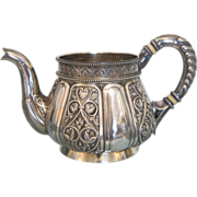 Antique Russian silver cream jug, Moscow 1898