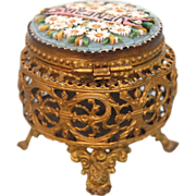 "Grand Tour Era Micro Mosaic lidded box ""Venezia"", 19th century"