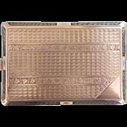 Art Nouveau enamelled silver cigarette case, ca.1900