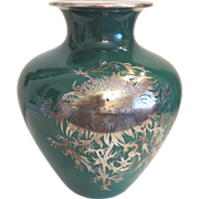 Heinrich & Co Bavaria porcelain vase with fine silver painting( 1896-1940)