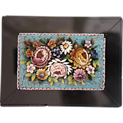 Antique  Micro Mosaic flower Paperweight , 19th century