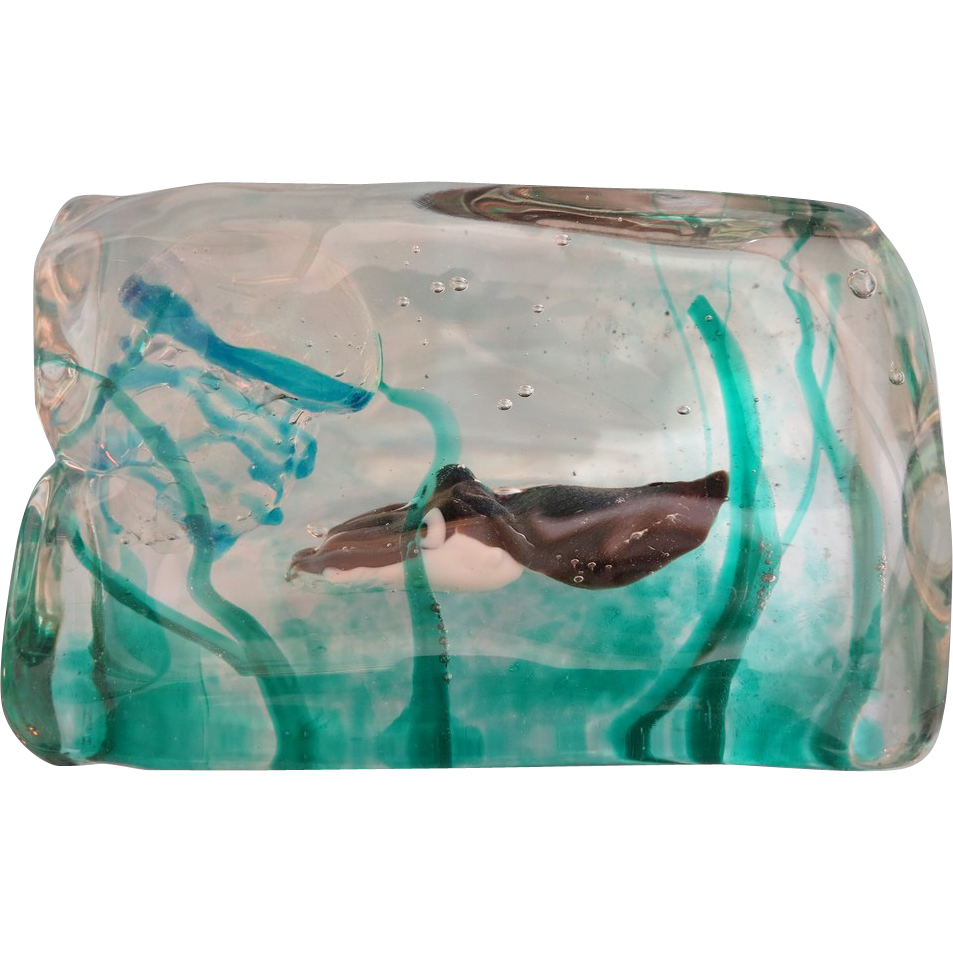 rare murano glass aquarium by cenedese dated at about 1950 from chateau on ruby lane. Black Bedroom Furniture Sets. Home Design Ideas