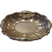 Antique oval silver bowl, Diana head hallmark, 19th century