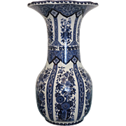 Delft vase in blue and white flower design, 1.st half of 20th century