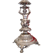 Antique silver centerpiece by Jean Pierre Louis Ramu Dufour(1825 - 1850) , Geneva, Switzerland,19th century