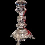 Antique silver centerpiece by Jean Pierre Louis Ramu Dufour(1825 - 1850) , Geneva, Switzerland,19th century