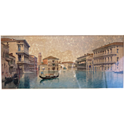 Italian Water color painting signed Eugenio Benvenuti (1881-1959), early 20th century