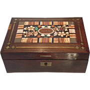 Antique Bohemian Pietra Dura Box, 19th.century