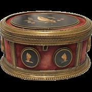 Antique Florentine  Pietra Dura casket, 19th century