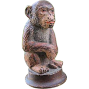 Antique Vienna Bronze figure of a monkey, early 19th century