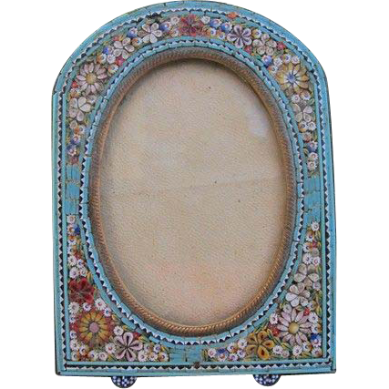 Antique colorful Micro Mosaic frame ,19th century