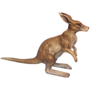 Vienna Bronze figure of a kangaroo,signed by Fritz Bermann,ca. 1940