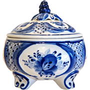 Vintage porcelain sugar bowl, 20th century