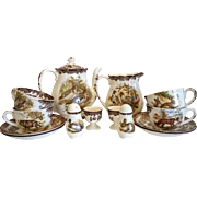 Vintage Worcester Palissy Game Series tea set, ca.1960-1979