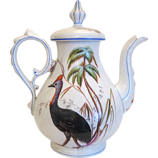 Vintage tea pot, artfully hand painted, ca.1920