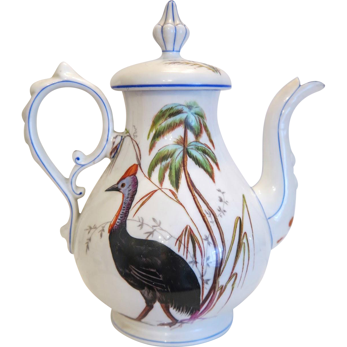 Vintage tea pot, artfully hand painted, ca.1920