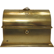 Antique gilt metal  casket with Cameo, 19th century