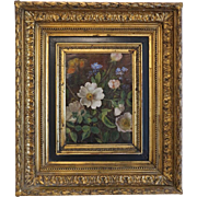 Antique painting, oil on canvas, signed and dated ca. 1820