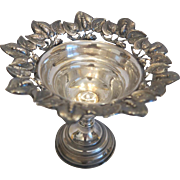 Art Nouveau silver bowl, hallmarked and maker´s mark, ca.1900