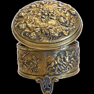 Antique Gilt Bronze casket, Vienna 19th century