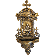 Antique Gilt Bronze Holy Water Font, , 19th century - Red Tag Sale Item
