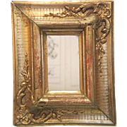 Antique gilt wood frame with fine carving, 19th century