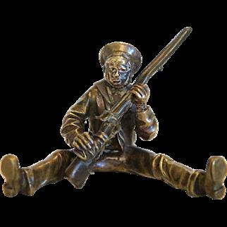 Antique Vienna Bronze figure of a soldier,19th century