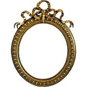 Antique hand carved gilt wood frame,19th century