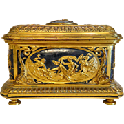 Antique French Gilt Bronze casket,19th century