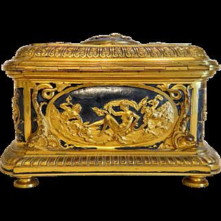 Antique French Gilt Bronze casket,19th century
