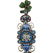 Antique Micro Mosaic letter opener, 19th century