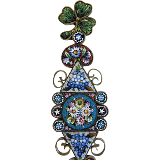 Antique Micro Mosaic letter opener, 19th century