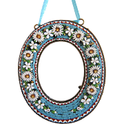 Antique Micro Mosaic frame , copper mounting, 19th century
