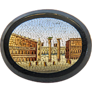 Antique Roman Micro Mosaic depicting St.Mark´s square in Venice, 19th century
