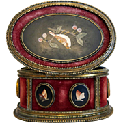 Antique Florentine  Pietra Dura box, 19th century