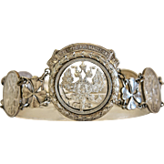 Russian silver Imperial coin bracelet, silver 800 ,ca.1915
